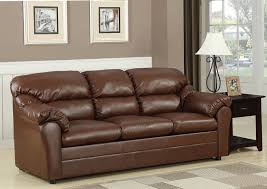 leather couch with pull out bed 7408