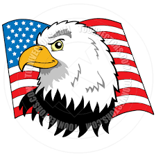 Bald Eagle And American Flag Cartoon American Bald Eagle With Flag By Clairev Toon Vectors