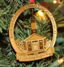 commemorative 125 anniversary christmas ornament roxboro