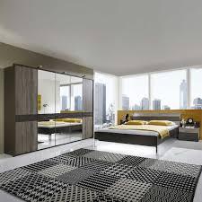 Schlafzimmer Komplett Preis Schlafzimmerset In Braun Eiche Trüffel Led Beleuchtung 4 Teilig