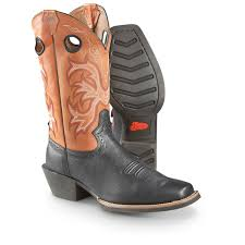 unique justin work boots sz 10 ee mens stampede brown sawdust