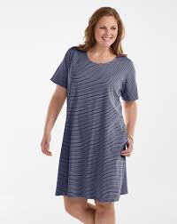 pinstripe allure t shirt dress