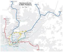 Metro Redline Map U Bahn Hamburg Metro Map Germany