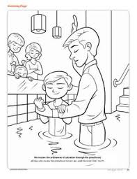 lds coloring pages i can be a good exle mormon share baptism confirmation coloring page churches object