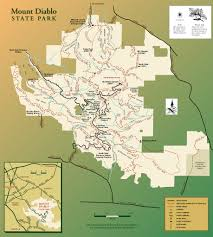 Montana State Map Mt Diablo State Park Map Clayton California U2022 Mappery