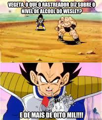Memes De Vegeta - vegeta o que o rastreador diz sobre o nivel de alcool do wesley