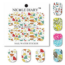 aliexpress com buy nicole diary nail art water decals elegant