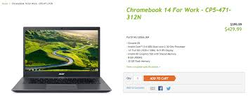 deal alert acer chromebook 14 for work is just 429 99 170 off