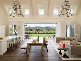 galley open concept kitchen ideas dining room contemporary with