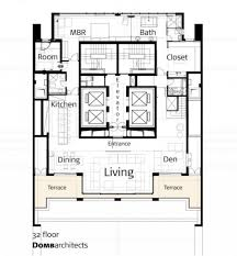 Kitchen Design Floor Plans by Home Design Penthouse Floor Plan In Home Decoration With Guest
