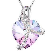purple heart necklace images Angelady eternity of love purple heart pendant jpg