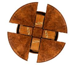 round dining room tables with self storing leaves crotch walnut circular dining table with self storing leaves