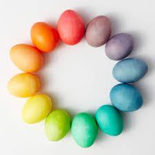 pastel easter eggs easter egg dyeing color wheels martha stewart