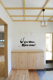 5165 less whine more wine wall words country chic decals