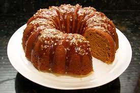 pumpkin pound cake recipe with maple pecan glaze