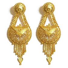 gold ear rings images women gold earring at rs 8500 pair aliganj bazar lucknow id