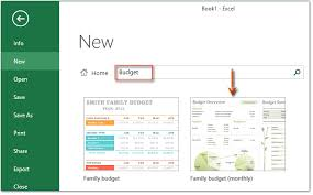 Excel Home Budget Templates How To A Monthly Budget Template In Excel