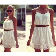 white lace spaghetti strap dress on luulla
