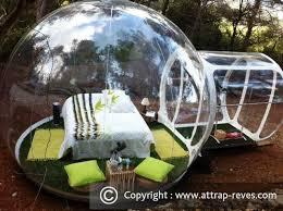 chambres bulles dormir dans une bulle à attrap rêves puget pour une nuit insolite