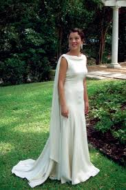 custom wedding dress hand made backless silk crepe trumpet bridal gown by carter