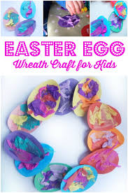 how to make an easter egg wreath easter egg wreath craft crafts on sea
