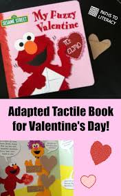 elmo valentines touch and feel valentines day book adapted with braille and