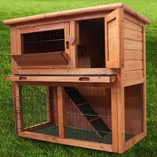 Large Rabbit Hutch With Run Wooden Rabbit Hutch Pet Supplies Ebay