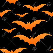 orange bats on black seamless tile halloween royalty free