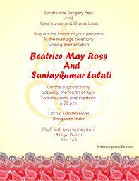 wedding invitation india indian wedding invitation message marriage invitation wordings in