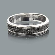 mens black diamond wedding band mens black diamond wedding band 0 28ct 10k gold
