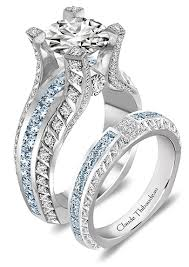 Blue Diamond Wedding Rings by This Is The One I Dream Of I Can U0027t Stop Looking At This Claude