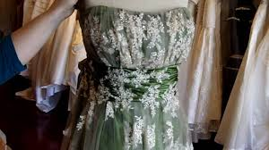 green and gold wedding dress from wedding dress fantasy youtube