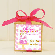 gift boxes 12 personalized favor box kits baby s birthday