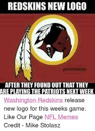 Redskins Meme - redskins new logo apatsvipnation after they found outthat they are