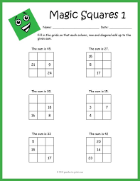 magic squares worksheet free worksheets library download and