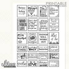 printable quotes in black and white black white quote stickers motivational quotes planner stickers