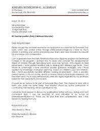 day care teacher cover letter cover letter teachers resume cv