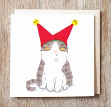 christmas cards with cats christmas lights decoration
