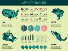 map usa y canada infographics elements set with collection maps of america usa