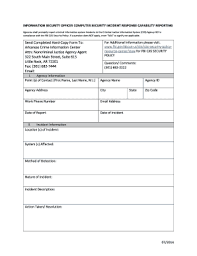Computer Security Incident Report Template by Editable Security Incident Report Template Word Fill Print
