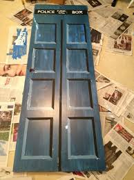 make your own tardis door 9 steps with pictures
