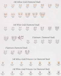 diamond stud sizes jewewlry identification