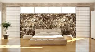 vliestapete schlafzimmer funvit ideen für steinwand