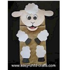paper bag lamb puppet craft puppets pinterest puppet crafts