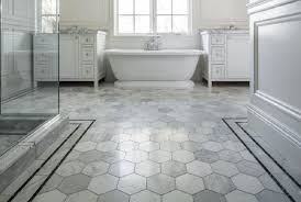 gray tile bathroom flooring concept custom home design