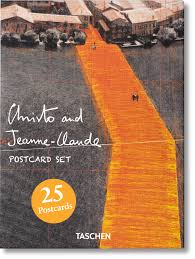 picture postcards christo and jeanne claude postcard set taschen books