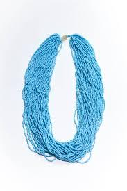 powder blue powder blue the statement bali bead necklace thebalibead