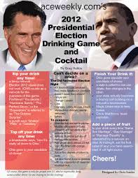 Games For Cocktail Parties - a presidential election night drinking game and cocktail for