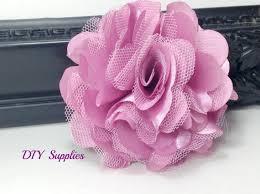 tulle flowers mauve satin tulle flower diy wedding flowers fabric flowers