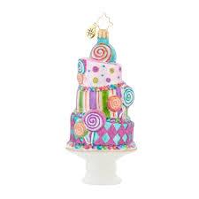 radko 1018003 sugary fun stack of cake u0026 candy ornament new